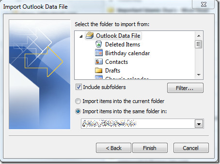 Import Outlook PST