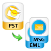 Convert Outlook PST to MSG or EML